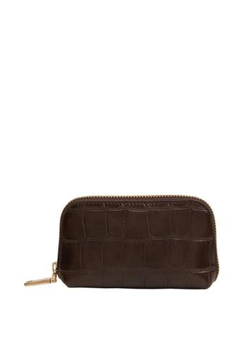 Mango brown Faux Leather Coin Purse 192E9ACAAE789CGS_1