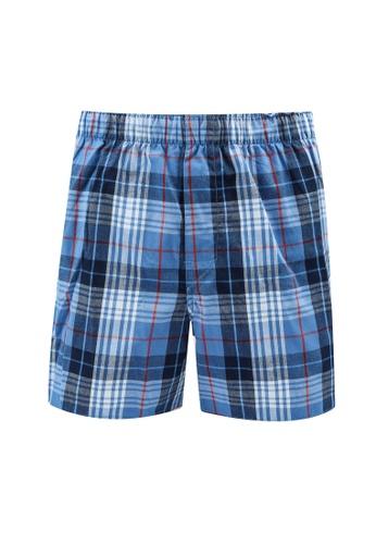GAP blue Plaid Boxers 827A4US73ECA38GS_1