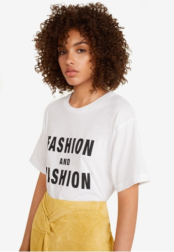Mango black and white Organic Cotton Message T-Shirt 7EE75AA11E735AGS_1