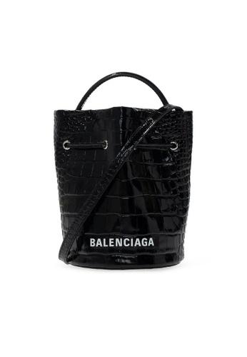 Balenciaga black Balenciaga Everyday Xs Drawstring Bucket Bag in Black 3C7EBACDFB3A6CGS_1