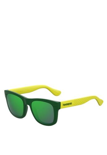 Havaianas green Paraty/S Sunglasses A27AFGL23D71E2GS_1