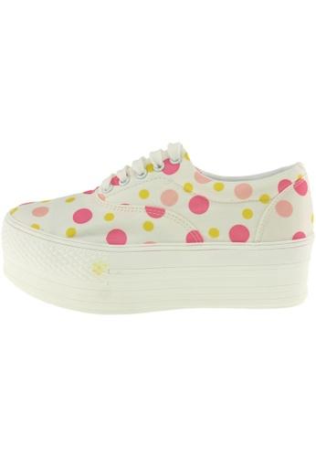 Maxstar 粉紅色 新款韩国鞋C50-5H-Dot時尚帆布布混合女黃粉紅色 US Women Size MA345SH20GSLTW_1