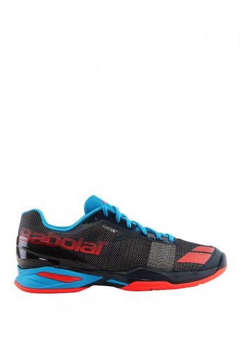 Babolat grey and red and blue Jet OCM Men's Tennis Shoes BA220SH0INSUPH_1