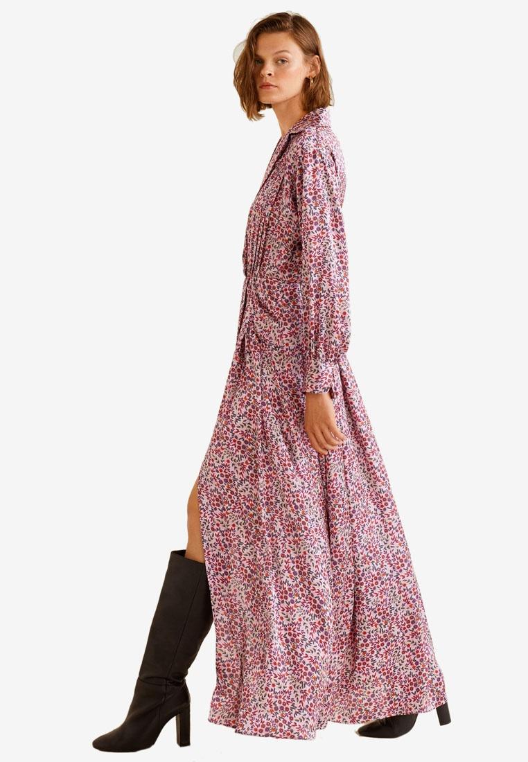 Satin Pink Mango Floral Floral Mango Dress Satin Dress vvw0xgqr