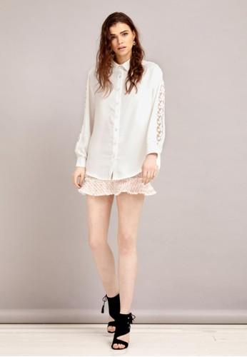 鏤空絲質襯衫zalora鞋, 服飾, 襯衫