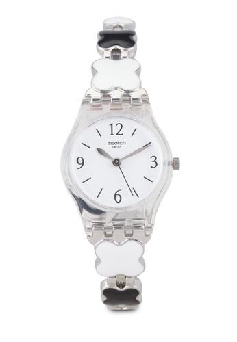 Swatch white Clovercheck Watch A0FD1ACC3046B2GS_1