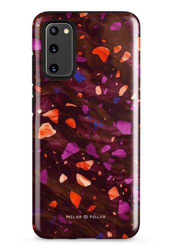 Polar Polar red Paprika Terrazzo Gem Dual-Layer Tough Case Glossy For Samsung Galaxy S20 5G F7767AC7F07D57GS_1