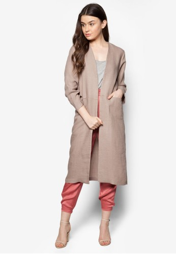 簡約長版開襟大衣, 服飾, 毛衣esprit 中文& 針織外套