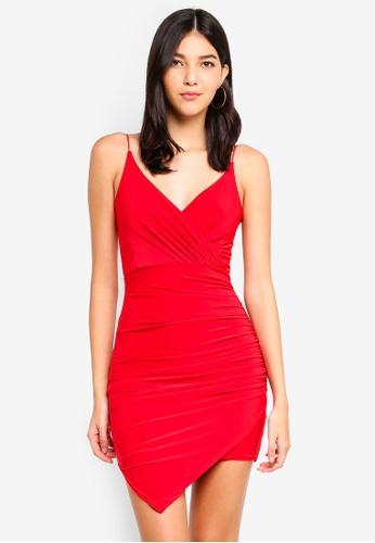 b2047afdb2af Buy MISSGUIDED Strappy Slinky Wrap Bodycon Dress Online on ZALORA ...