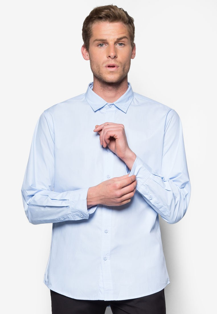 Basic Long Sleeve Poplin Shirt
