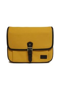 Lockwood Sunshine - Genuine Leather Trim DSLR Travel Camera Cross Bag