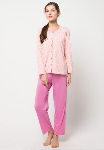 Puppy pink Long Sleeve, Long Pants Print Baby Bear I PU643AA44LVZID_1