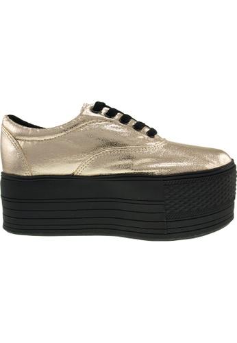 Maxstar gold Maxstar Women's C60 5 Holes Platform PU Low Top Sneakers US Women Size MA164SH04PQHSG_1