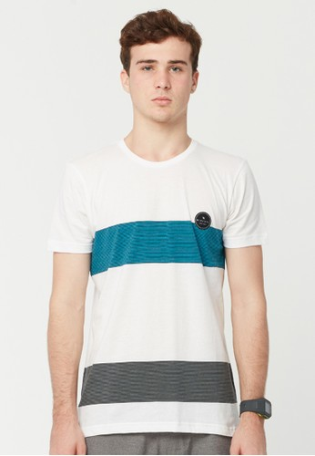 Rip Curl Double Stripe Men Tee - White