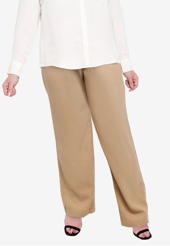 Ex'otico brown Basic Trouser 464C4AACE53B76GS_1