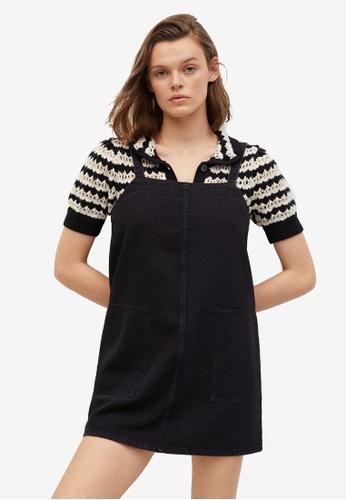 Mango 黑色 Pocket Denim Pinafore Dress 9EF38AAF56C309GS_1