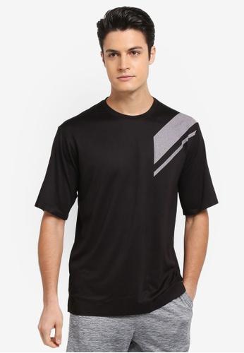 Calvin Klein black Diagonal Short Sleeve T-Shirt - Calvin Klein Performance 34E4FAA891AF4AGS_1