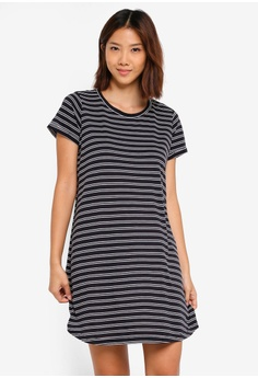 069a74d45df Cotton On white and navy Tina T-Shirt Dress E486FAABAB7815GS 1