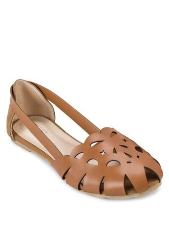 Mila 鏤空圓zalora時尚購物網評價頭平底鞋, 女鞋, 芭蕾平底鞋