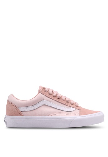VANS white and pink Old Skool Suiting Sneakers VA142SH0SWWCMY_1