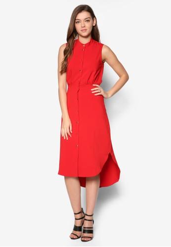 束腰無袖襯衫連身裙, esprit retail服飾, 洋裝