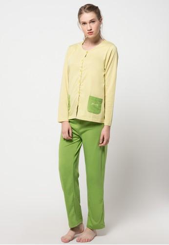 PUPPY green Long Sleeve, Long Pants PU643AA36LWHID_1