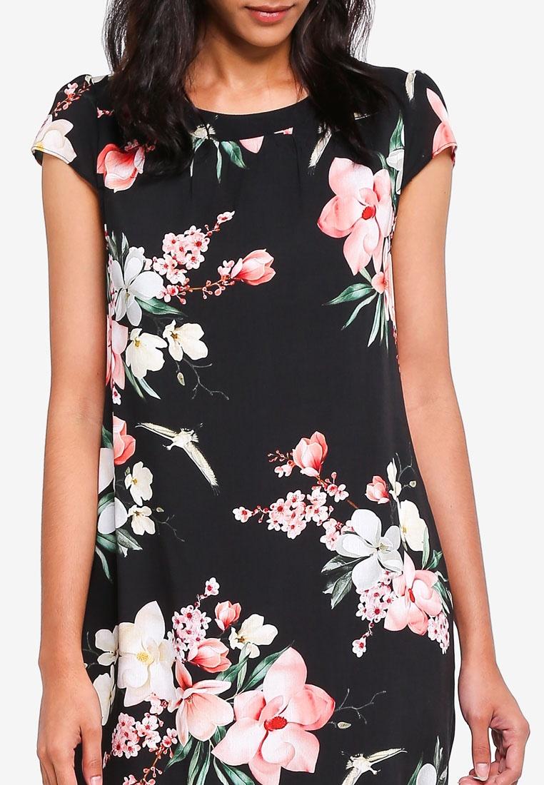Black Dress Billie Blossoms Black Perkins Dorothy Shift amp; Floral nqXBXxga8w