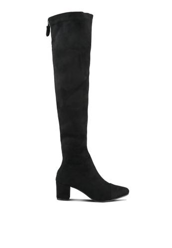 Twenty Eight Shoes black Skinny Middle Heel Long Boots TW281SH0S0IGMY_1
