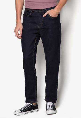 Burton Menswear London 海軍藍色 修身牛仔褲 BU838AA75FNGSG_1