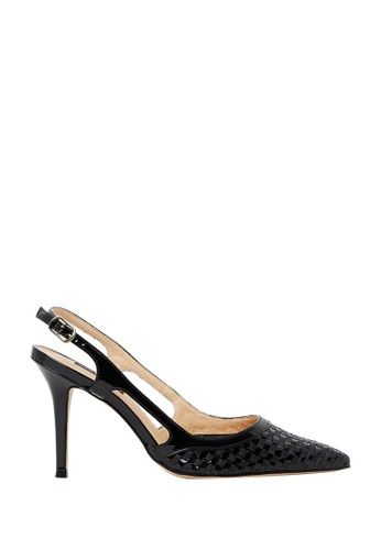 Nina Armando black Bridget Patent Leather Slingback High Heel NI342SH0FV8WSG_1