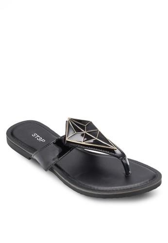 esprit 見工閃飾夾腳平底涼鞋, 女鞋, 鞋