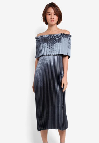Vero Moda blue Jasmine Off Shoulder Midi Dress AA7A9AA466C8A4GS_1