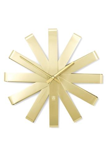 Umbra gold Ribbon Wall Clock EEC0CHL6713607GS_1