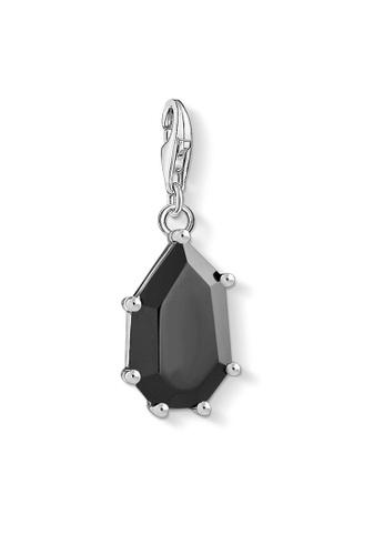 "THOMAS SABO silver Charm pendant ""black stone"" 271DAACF40547AGS_1"