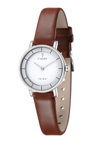 Fjord brown Fjord Women's Genuine Leather Watch - FJ-6038-01 1573FAC63DC9EFGS_1