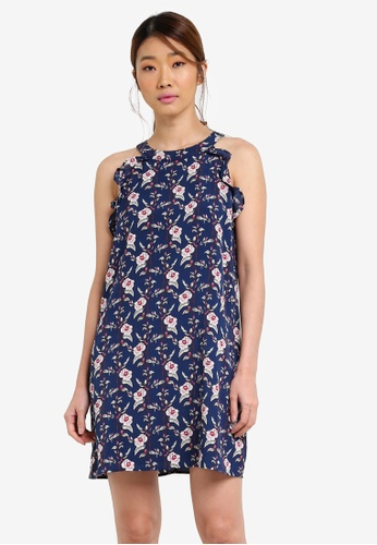 Something Borrowed navy Cut In Swing Dress With Ruffles 8EEC1AA31983FCGS_1
