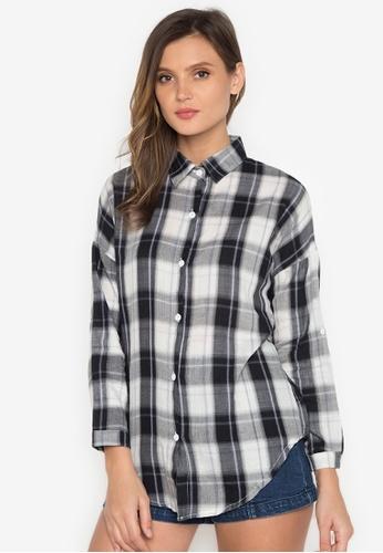 Chase Fashion black Plaid Flannel Shirt CH547US0K36XPH_1