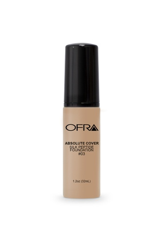 Ofra beige Absolute Cover Silk Peptide Foundation in Shade 3 CFF3ABEDF6E299GS_1