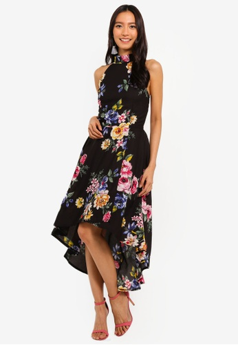 Mela London black and multi Colourful High Low Dress 45CC0AA99189AAGS_1