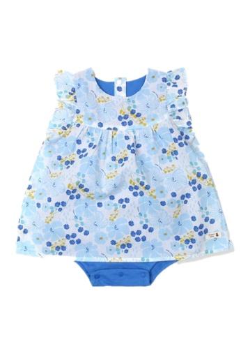 Organic mom blue Organic Cotton Nancy Floral Onesie 65F56KA6B0559BGS_1