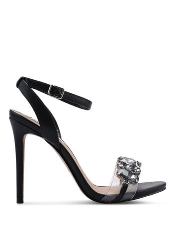 Steve Madden 黑色 Sophia Open Toe Ankle Strap Stiletto Heels B2F20SH49D7ED9GS_1