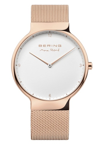 Bering gold Max Rene 15540-364 White 40 mm Men's Watch 5003BAC72F652AGS_1