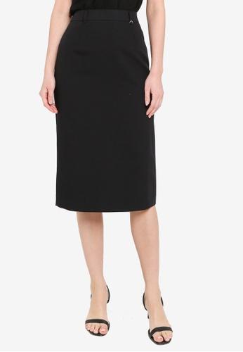 Dorothy Perkins black Black D-Ring Naples Skirt 9ACF2AAB7105F0GS_1