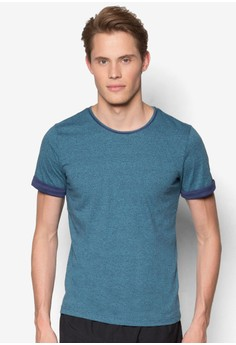 Short Sleeve Tee With Piping