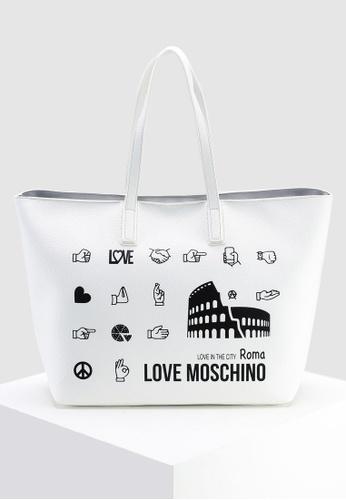 aeda0c21d45 Shop Love Moschino Graphic Tote Bag Online on ZALORA Philippines