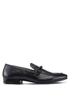ae58ccc5b Burton Menswear London black Black Playfair Plaited Shoes 25FDFSH4783383GS_1