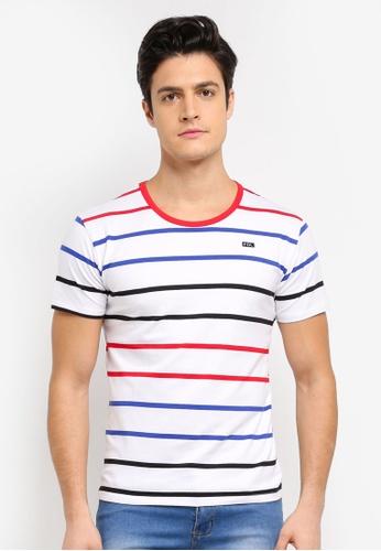 Fidelio 白色 短袖條紋T恤 F96C5AAAD588BDGS_1