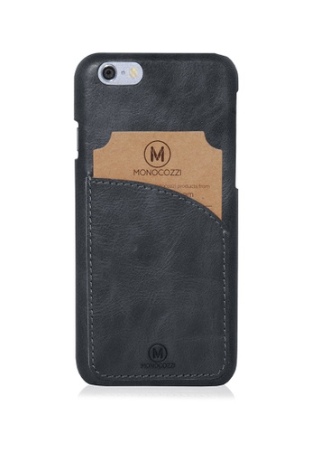 Monocozzi black Exquisite - Genuine Leather Hard Shell Case With Smart Card Pocket For iPhone 6s  MO983AC30WBPHK_1