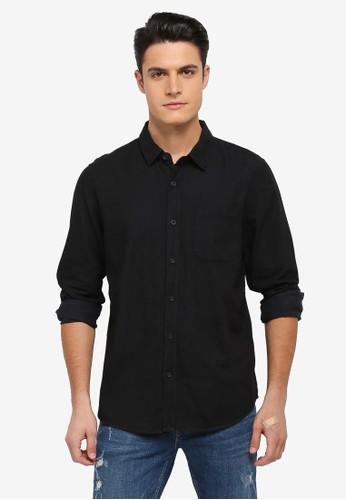 Factorie black The Longsleeve OD Shirts DB2CCAA7D7AF43GS_1