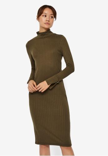 Vero Moda green Vilja Long Sleeve Dress CECA6AA3438EA5GS_1